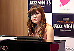 July 1, 2016, Tokyo, Japan - Japanese pianist Riyoko Takagi plays piano for a jazz session with Japanese violinist Junko Makiyama at the Mitsukoshi department store in Tokyo's Ginza district on Friday, July 1, 2016. Their public recording of FM broadcasting will be on air on July 24.  (Photo by Yoshio Tsunoda/AFLO) LWX -ytd-