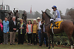 March 14, 2015: Gold Medal Dancer in the winners circle after winning the Azeri stakes at Oaklawn Park in Hot Springs, AR. Justin Manning/ESW/CSM