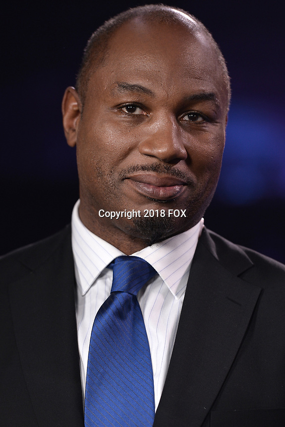 """BROOKLYN, NY - DECEMBER 22:  Sports commentator Lennox Lewis attends the Fox Sports and Premier Boxing Champions  December 22 """"PBC on Fox"""" Fight Night at the Barclays Center on December 22, 2018 in Brooklyn, New York. (Photo by Anthony Behar/Fox Sports/PictureGroup)"""