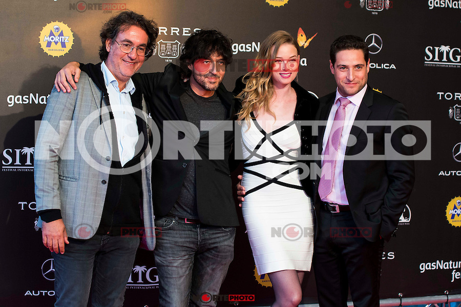 The producers with the director Miguel Angel Vivas and Rachel Nichols during the red carpet of the opening ceremony of the Festival de Cine Fantastico de Sitges in Barcelona. October 07, Spain. 2016. (ALTERPHOTOS/BorjaB.Hojas) NORTEPHOTO.COM