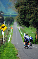 Palmerston North senior B u20 boys in action during the NZ Schools Road Cycling championship day one team time trials at Koputaroa Road near Levin, New Zealand on Saturday, 30 September 2017. Photo: Dave Lintott / lintottphoto.co.nz