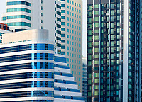 Manila, Philippines Architecture high rise buildings in Manila, view from Makati, Philippines
