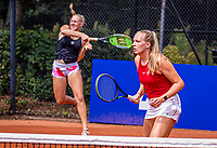 Hilversum, Netherlands, August 5, 2021, Tulip Tennis center, National Junior Tennis Championships 16 and 18 years, NJK, Girls Doubles 18 years, Melissa Boyden (L)  (NED) and Eloise de Mooij (NED)<br /> Photo: Tennisimages/Henk Koster