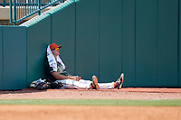 Greensboro Grasshoppers pitcher Colton Hock (40) in the bullpen during a game against the Lakewood BlueClaws on June 10, 2018 at First National Bank Field in Greensboro, North Carolina.  Lakewood defeated Greensboro 2-0.  (Mike Janes/Four Seam Images)