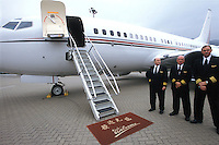 Luxurious private jet for business meeting, Hong Kong..26-JAN-04