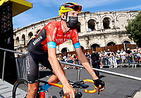 July 9th 2021. Carcassonne, Languedoc, France;  TEUNS Dylan (BEL) of BAHRAIN VICTORIOUS  during stage 13 of the 108th edition of the 2021 Tour de France cycling race, a stage of 219,9 kms between Nimes and Carcassonne.