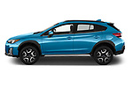 Car Driver side profile view of a 2020 Subaru Crosstrek Hybrid 5 Door SUV Side View