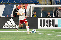 FOXBOROUGH, MA - OCTOBER 16: Derek Waldeck #18 of North Texas SC during a game between North Texas SC and New England Revolution II at Gillette Stadium on October 16, 2020 in Foxborough, Massachusetts.