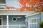 Nautical Blue Home with White Trim