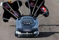 Feb 21, 2014; Chandler, AZ, USA; NHRA funny car driver Gary Densham during qualifying for the Carquest Auto Parts Nationals at Wild Horse Pass Motorsports Park. Mandatory Credit: Mark J. Rebilas-USA TODAY Sports
