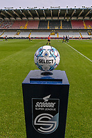 match ball pictured before a female soccer game between Club Brugge Dames YLA and Standard Femina de Liege on the first matchday of the 2021 - 2022 season of Belgian Scooore Womens Super League , saturday 21 August 2021in Aalter , Belgium . PHOTO SPORTPIX   DAVID CATRY
