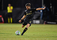 LAKE BUENA VISTA, FL - JULY 18: Diego Rossi #9 of LAFC prepares to pass during a game between Los Angeles Galaxy and Los Angeles FC at ESPN Wide World of Sports on July 18, 2020 in Lake Buena Vista, Florida.