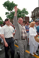 June 24, 1994  File Photo <br /> Lucien Bouchard  Jacques Parizeau and his wife Lysette Lapointe<br /> take part in the<br /> Quebec national Holiday (Saint-Jean-Baptiste)