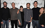 Playwright Christopher Shinn, Mark Blum, Liz Stauber, Michael Stahl-David, Tom Lipinski, and Donna Hanover.attending the Meet & Greet the cast & creatives for the Off-Broadway World Premiere of 'PICKED' at the Vineyard Theatre in New York City.