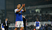 Ipswich Town's Myles Kenlock applauds the fans at the final whistle <br /> <br /> Photographer Hannah Fountain/CameraSport<br /> <br /> The EFL Sky Bet Championship - Ipswich Town v Stoke City - Saturday 16th February 2019 - Portman Road - Ipswich<br /> <br /> World Copyright © 2019 CameraSport. All rights reserved. 43 Linden Ave. Countesthorpe. Leicester. England. LE8 5PG - Tel: +44 (0) 116 277 4147 - admin@camerasport.com - www.camerasport.com