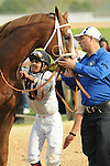 April 12, 2014: Luis Saez at the Arkansas Derby at Oaklawn Park in Hot Springs, AR. Zoie Clift/ESW/CSM
