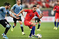 St. Louis, MO - SEPTEMBER 10: Sebastian Lletget #17 of the United States moves with the ball during their game versus Uruguay at Busch Stadium, on September 10, 2019 in St. Louis, MO.