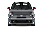 Straight front view of a 2014 Fiat 500c Abarth Cabrio 2 Door Convertible