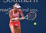 August 15,2019:   Anett Kontaveit (EST) loses to Ashleigh Barty (AUS) 4-6, 7-5, at the Western & Southern Open being played at Lindner Family Tennis Center in Mason, Ohio.  ©Leslie Billman/Tennisclix/CSM