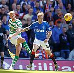 12.05.2019 Rangers v Celtic: Kristoffer Ajer and Scott Arfield