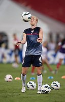 Becky Sauerbrunn. The USWNT defeated Mexico, 7-0, during an international friendly at RFK Stadium in Washington, DC.  The USWNT defeated Mexico, 7-0.