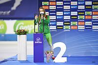 SPEEDSKATING: HEERENVEEN: 30-01-2021, IJsstadion Thialf,  ISU World Cup II, 1500m Ladies Division B, Ekaterina Sloeva (BEL), ©photo Martin de Jong