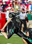 Baylor Bears kicker Aaron Jones (43) in action during the game between the Southern Methodist Mustangs and the Baylor Bears at the Floyd Casey Stadium in Waco, Texas. Baylor defeats SMU 59 to 24.