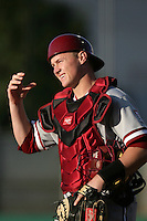 Zach Jones of the Stanford Cardinal in the field against the USC Trojans at Dedeaux Field in Los Angeles,California on April 8, 2011. Photo by Larry Goren/Four Seam Images