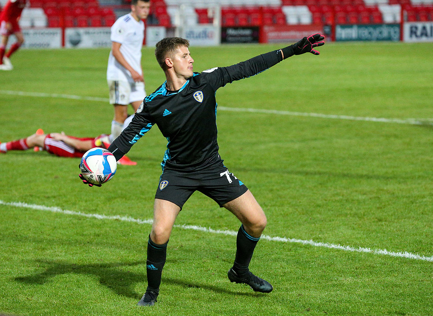 Leeds United U21's Harry Christy<br /> <br /> Photographer Alex Dodd/CameraSport<br /> <br /> EFL Trophy Northern Section Group G - Accrington Stanley v Leeds United U21 - Tuesday 8th September 2020 - Crown Ground - Accrington<br />  <br /> World Copyright © 2020 CameraSport. All rights reserved. 43 Linden Ave. Countesthorpe. Leicester. England. LE8 5PG - Tel: +44 (0) 116 277 4147 - admin@camerasport.com - www.camerasport.com