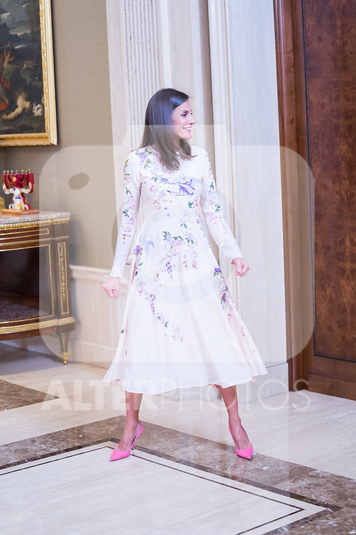 Queen Letizia of Spain during the audience with executive commission of the alliance for professional learning dual. July 8 ,2019. (ALTERPHOTOS/Francis Gonzalez)
