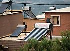 Mar. 12, 2013; Solar water heaters on top of homes near Johannesburg South Africa.<br /> <br /> Photo by Matt Cashore/University of Notre Dame