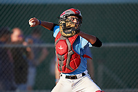 Dayne Jurjo (8) during the WWBA World Championship at Terry Park on October 10, 2020 in Fort Myers, Florida.  Dayne Jurjo, a resident of Miami, Florida who attends Doral Academy Charter School.  (Mike Janes/Four Seam Images)