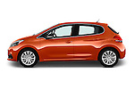 Car Driver side profile view of a 2015 Peugeot 208 Allure 5 Door Hatchback Side View