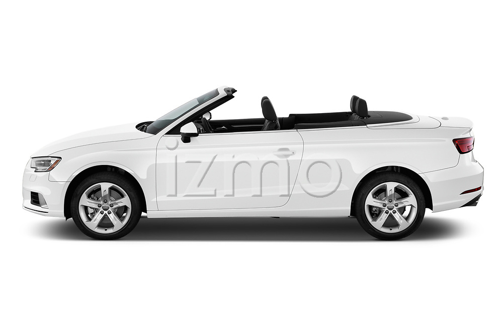 Car driver side profile view of a 2018 Audi A3 Premium 2 Door Convertible