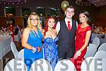 Michaela Collins (Killarney), Shannon Lyne (Killarney), Liam Palmer (Killarney) and Julie O'Callaghan (Killarney) attending the Killarney Community College, St. Brendan's and St. Bridget's School debs in the Ballyroe Heights Hotel on Monday night.