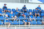 Die Zuschauer mit Abstand auf der Tribuene  beim Spiel, FC Astoria Walldorf - SC Freiburg II.<br /> <br /> Foto © PIX-Sportfotos *** Foto ist honorarpflichtig! *** Auf Anfrage in hoeherer Qualitaet/Aufloesung. Belegexemplar erbeten. Veroeffentlichung ausschliesslich fuer journalistisch-publizistische Zwecke. For editorial use only. DFL regulations prohibit any use of photographs as image sequences and/or quasi-video.