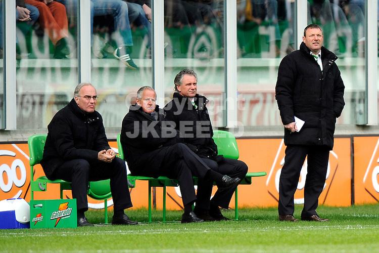 voetbal fc groningen - nac erediivisie seizoen 2007-2008 06-04-2008 .fc groningen bank.fotograaf Jan Kanning