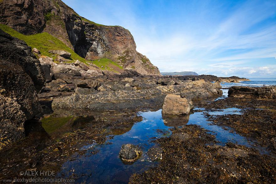 Tidal pool, Carsaig, Isle of Mull, Scotland, UK. June.