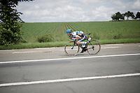 Angelo de Clercq (BEL/Marlux-Napoleon Games) 'dropping' down<br /> <br /> 69th Halle-Ingooigem 2016 (200km)