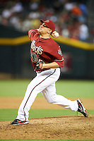 Arizona Diamondbacks relief pitcher David Hernandez #30 during a National League regular season game against the Colorado Rockies at Chase Field on October 3, 2012 in Phoenix, Arizona. Colorado defeated Arizona 2-1. (Mike Janes/Four Seam Images)