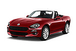 2016 Fiat 124-Spider Lusso 2 Door Convertible Angular Front stock photos of front three quarter view