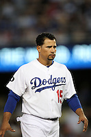 Los Angeles Dodgers shortstop Rafael Furcal #15 during a game against the Washington Nationals at Dodger Stadium on July 23, 2011 in Los Angeles,California. Los Angeles defeated Washington 7-6.(Larry Goren/Four Seam Images)