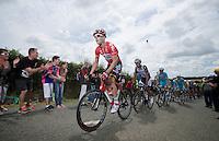 Lars Bak (DEN/Lotto-Belisol) pacing the peloton <br /> <br /> 2014 Tour de France<br /> stage 4: Le Touquet-Paris-Plage/Lille Métropole (163km)