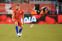 EAST RUTHERFORD, NJ - SEPTEMBER 7: Jordan Morris #11 of the United States kicks the ball during a game between Mexico and USMNT at MetLife Stadium on September 6, 2019 in East Rutherford, New Jersey.