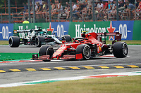 10th September, September 2021; Nationale di Monza, Monza, Italy; FIA Formula 1 Grand Prix of Italy, Free practise and qualifying for sprint race:  Carlos Sainz Jr. ESP 55, Scuderia Ferrari Mission Winnow, Lance Stroll CAN 18, Aston Martin Cognizant Formula One Team