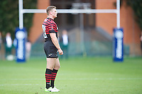 20120823 Copyright onEdition 2012©.Free for editorial use image, please credit: onEdition..Chris Ashton of Saracens looks on at The Honourable Artillery Company, London in the pre-season friendly between Saracens and Stade Francais Paris...For press contacts contact: Sam Feasey at brandRapport on M: +44 (0)7717 757114 E: SFeasey@brand-rapport.com..If you require a higher resolution image or you have any other onEdition photographic enquiries, please contact onEdition on 0845 900 2 900 or email info@onEdition.com.This image is copyright the onEdition 2012©..This image has been supplied by onEdition and must be credited onEdition. The author is asserting his full Moral rights in relation to the publication of this image. Rights for onward transmission of any image or file is not granted or implied. Changing or deleting Copyright information is illegal as specified in the Copyright, Design and Patents Act 1988. If you are in any way unsure of your right to publish this image please contact onEdition on 0845 900 2 900 or email info@onEdition.com
