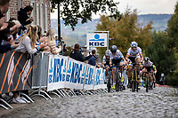 European Champion Annemiek Van Vleuten (NED/Mitchtelton-Scott) and German National Champion Lisa Brennauer (GER/Ceratizit-WNT Pro Cycling) up the Oude Kwaremont<br /> <br /> 17th Ronde van Vlaanderen 2020<br /> Elite Womens Race (1.WWT)<br /> <br /> One Day Race from Oudenaarde to Oudenaarde 136km<br /> <br /> ©kramon