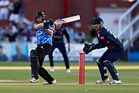 Luke Wright hits out for Sussex during Kent Spitfires vs Sussex Sharks, Vitality Blast T20 Cricket at The Spitfire Ground on 18th July 2021