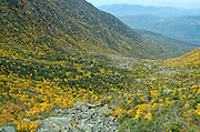 King Ravine Trail during the early autumn months in the White Mountains, New Hampshire USA.