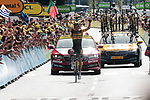 Sepp Kuss (USA) Jumbo-Visma from the breakaway wins Stage 15 of the 2021 Tour de France, running 191.3km from Céret to Andorre-La-Vieille, Andorra. 11th July 2021.  <br /> Picture: Colin Flockton   Cyclefile<br /> <br /> All photos usage must carry mandatory copyright credit (© Cyclefile   Colin Flockton)
